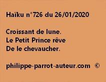 Haïku n°726 260120