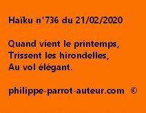 Haïku n°736 210220