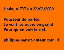 Haïku n°737 220220