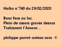 Haïku n°740 290220