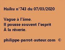 Haïku n°743 070320