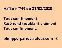 Haïku n°749 210320