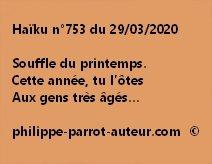 Haïku n°753 290320