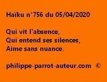Haïku n°756 050420