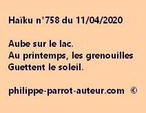 Haïku n°758 110420
