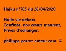Haïku n°765 260420