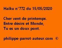 Haïku n°772 150520