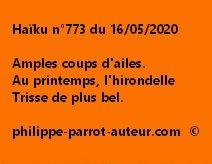 Haïku n°773 160520