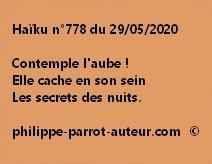 Haïku n°778 290520