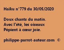 Haïku n°779 300520