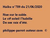 Haïku n°789 210620