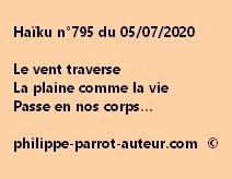 Haïku n°795 050720