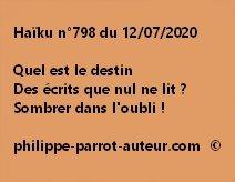 Haïku n°798 120720