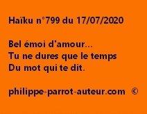 Haïku n°799 170720 a