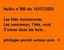 Haïku n°800 180720