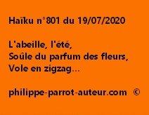 Haïku n°801 190720