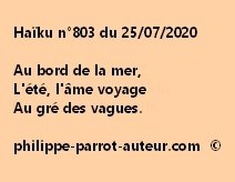 Haïku n°803 250720