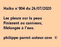 Haïku n°804 260720