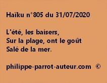 Haïku n°805 310720
