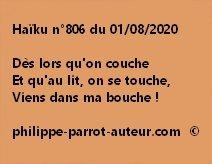 Haïku n°806 010820