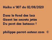 Haïku n°807 020820