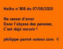 Haïku n°808 070820