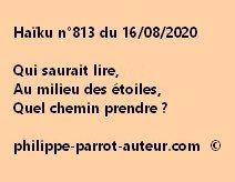 Haïku n°813 160820