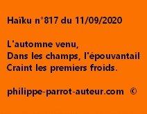 Haïku n°817 110920