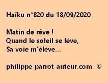 Haïku n°820 180920