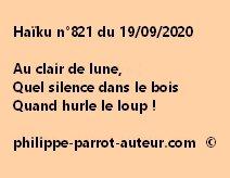 Haïku n°821 190920