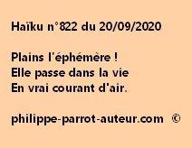 Haïku n°822 200920