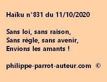 Haïku n°831 111020