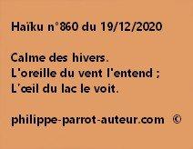 Haïku n°860 191220