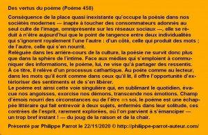 458 - Vertus du poème