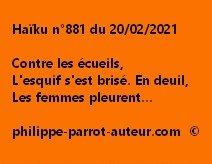 Haïku n°881 200221
