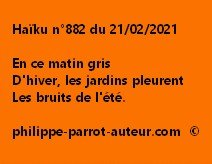 Haïku n°883 210221