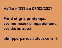 Haïku n°888 070321