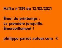 Haïku n°889 130321