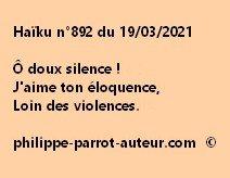 Haïku n°892 190321