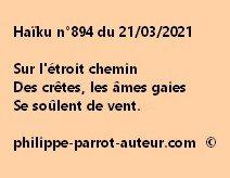 Haïku n°894 210321