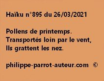 Haïku n°895 260321