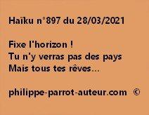 Haïku n°897 280321
