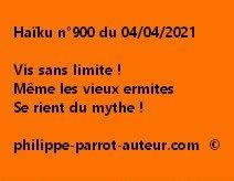Haïku n°900 040421