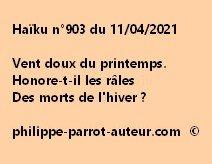 Haïku n°903 110421