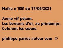 Haïku n°905 170421