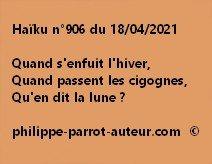 Haïku n°906 180421