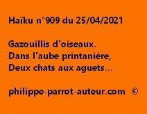Haïku n°909 250421