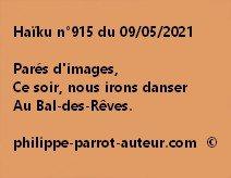 Haïku n°915 090521