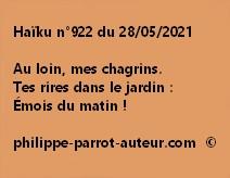Haïku n°922 280521