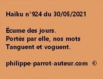 Haïku n°924 300521